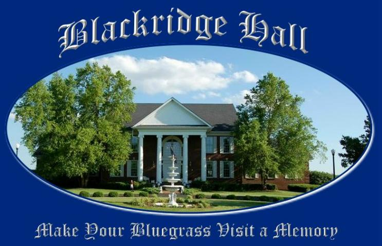 Blackridge Hall welcomes guests to Kentucky Bluegrass country with southern hospitality.